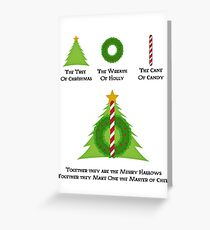 The Merry Hallows Greeting Card