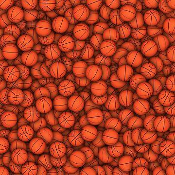 Basketball balls pattern by dima-v