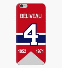 Jean Beliveau - retired jersey #4 iPhone Case