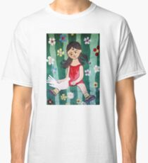 Girl and Pigeon Classic T-Shirt