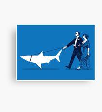 Walking the Shark Canvas Print