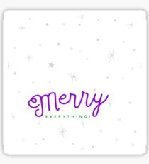 Merry Everything - Christmas Greeting Sticker