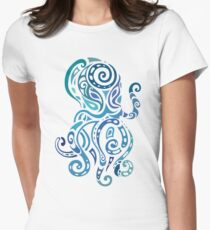Octopus. Womens Fitted T-Shirt