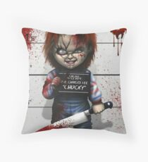Chucky from Childs play Throw Pillow