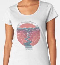 Canyon-Fluss Premium Rundhals-Shirt
