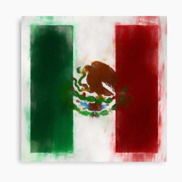 Mexico Flag Reworked No. 2, Series 1 Canvas Print