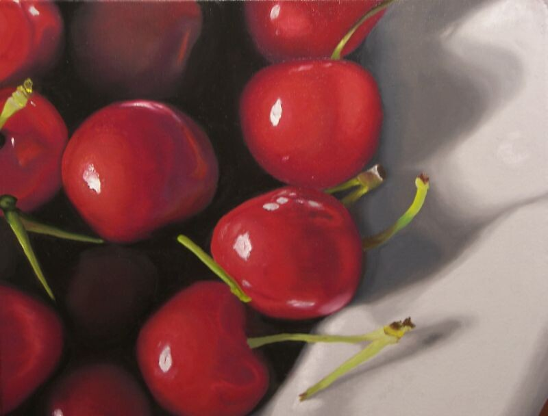 Cherries in a Bowl by kathylumsden
