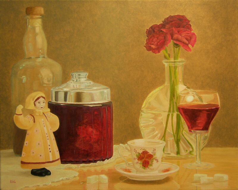 Still Life in Red by kathylumsden