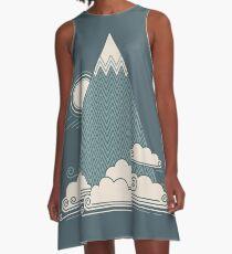 Wolkenberg A-Linien Kleid