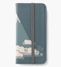 Wolkenberg iPhone Flip-Case/Hülle/Klebefolie