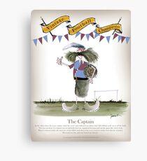 Vintage Football Captain Blues and Clarets Team Canvas Print