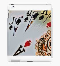 Man cave - deck of cards/royal flush iPad Case/Skin