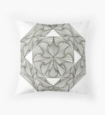 Mirrored at Center Throw Pillow