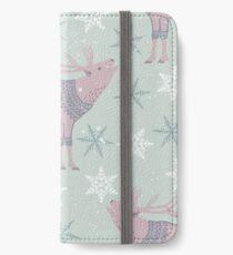 Artic Animals in Space - Deer iPhone Wallet/Case/Skin