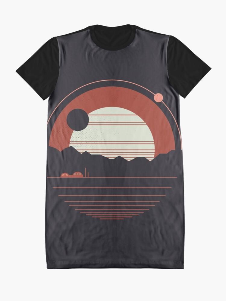 Alternate view of Solitude Graphic T-Shirt Dress