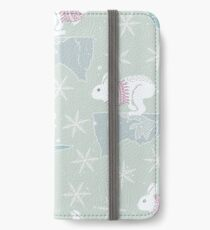 Artic Animals in Space - Bunny iPhone Wallet/Case/Skin