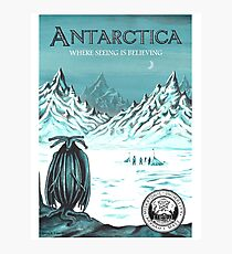 Antarctica - where seeing is believing Photographic Print