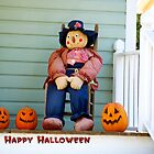 Scarecrow in Rocking Chair - Card by TJ Baccari Photography