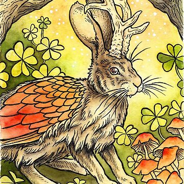 Winged Jackalope in Summer Plumage by OMEGAFAUNA