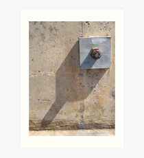 Bolted Plate and Shadow Art Print