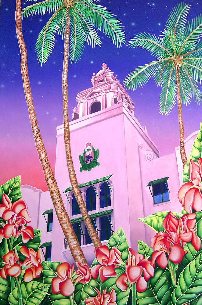 Royal Hawaiian Hotel, Waikiki, Hawai'i by joeyartist