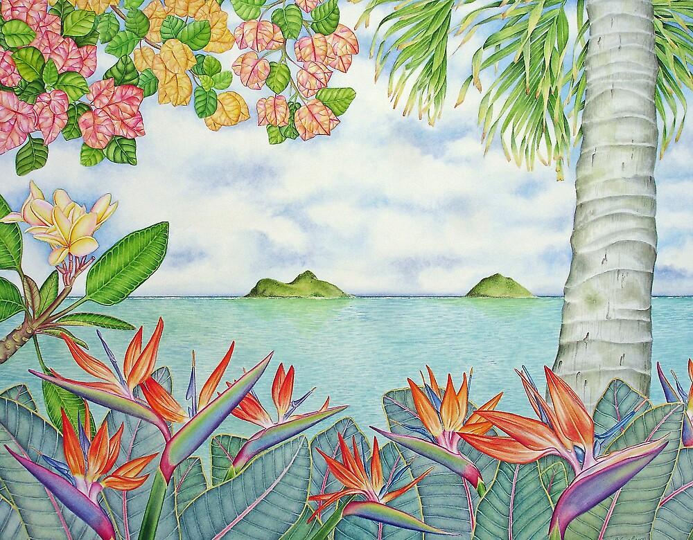 Mokulua Islands off Lanikai, Hawai'i by joeyartist
