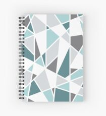 Geometric Design in Gray and Teal Spiral Notebook