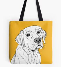 Labrador Dog Portrait Tote Bag
