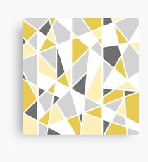 Geometric Design in Gray and Yellow Canvas Print