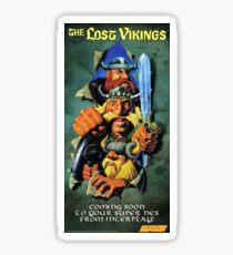 The Lost Vikings, Restored Vintage Nintendo Power Poster  Sticker