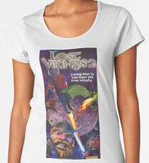 The Lost Vikings 2, Restored Vintage  Nintendo Power Poster Women's Premium T-Shirt