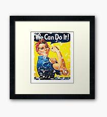 We Can Do It! World War II USA Propaganda & Morale Poster Framed Print