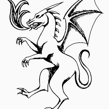 Heraldic Dragon by Terrizae