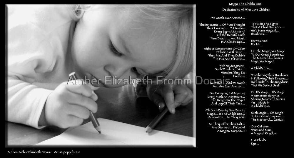 Magic The Child's Eye Version 2 by Amber Elizabeth Fromm Donais