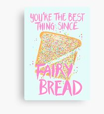 Best Thing Since Fairy Bread - Blue Canvas Print