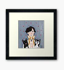Sherlock Holmes loves pups Framed Print