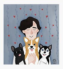 Sherlock Holmes loves pups Photographic Print