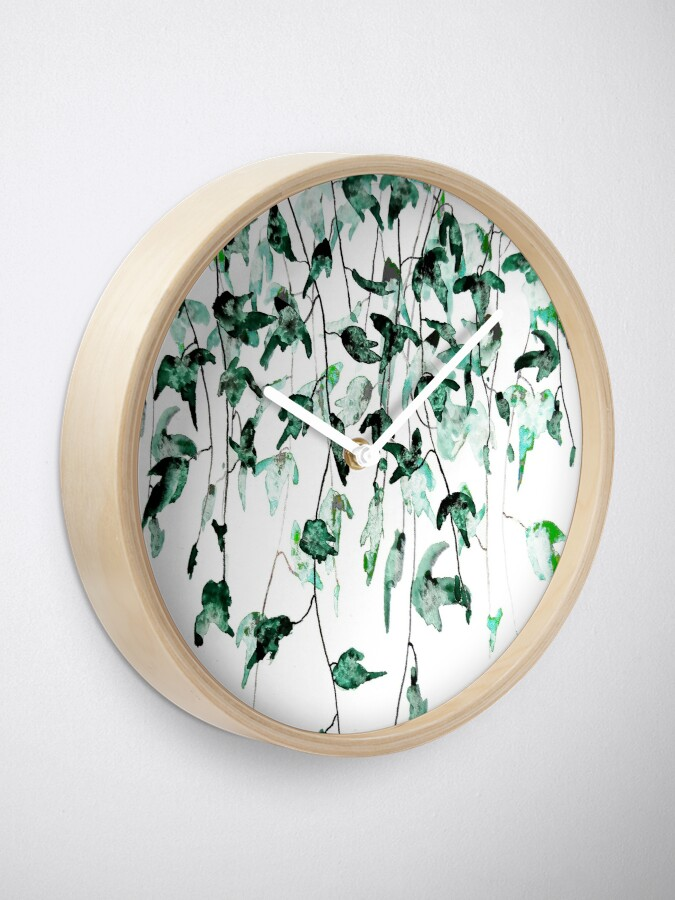 Alternate view of Ivy on the wall  Clock