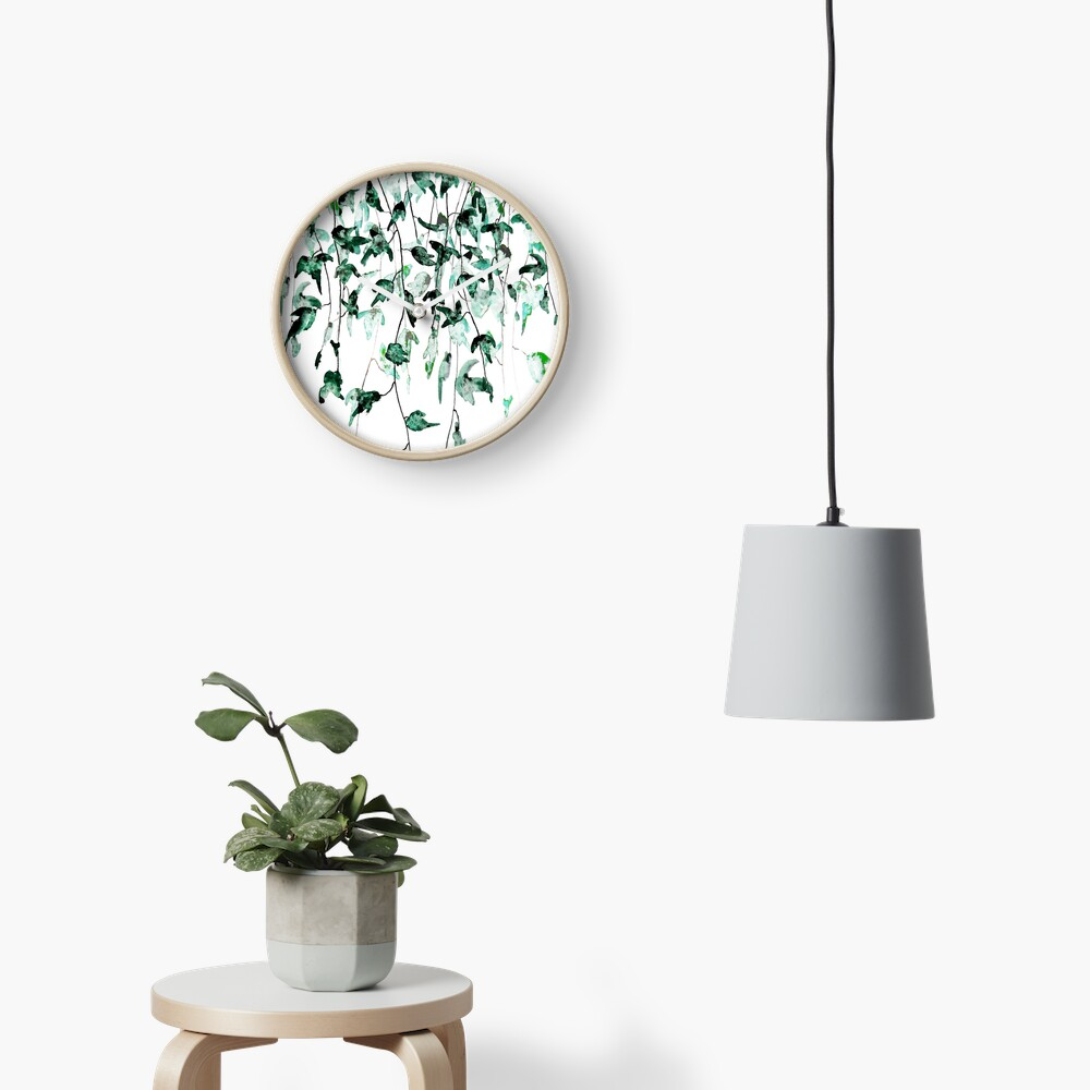 Ivy on the wall  Clock