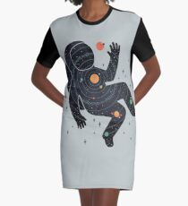 Inner Space Graphic T-Shirt Dress
