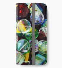 Cut Glass Beads iPhone Wallet/Case/Skin