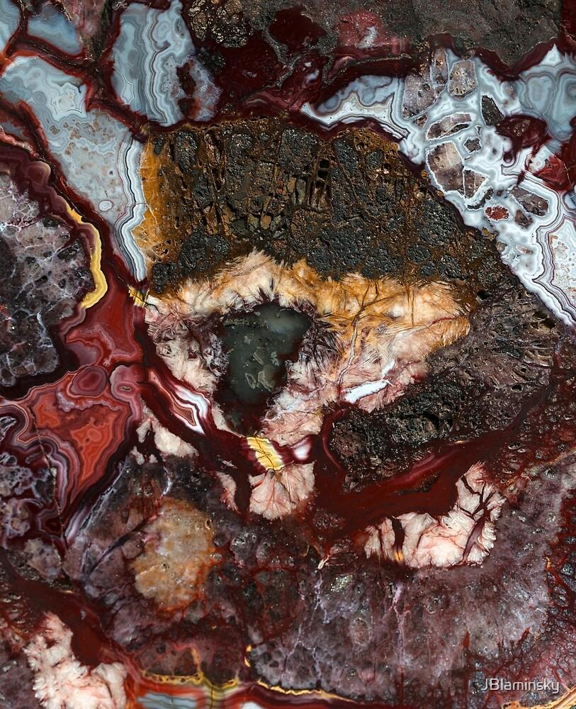 Earth Treasures - colorful agate by JBlaminsky