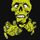 Scary Halloween Zombie T-Shirt for Boys, Girls and Adults by Leigh Evans