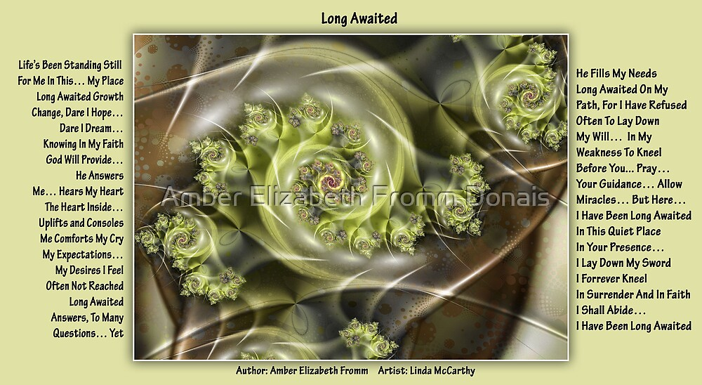 Long Awaited Fractal by Amber Elizabeth Fromm Donais