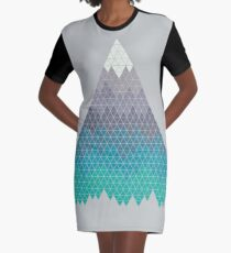 Many Mountains Graphic T-Shirt Dress