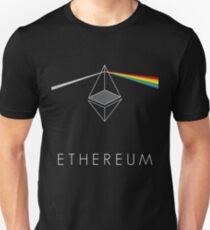 ethereum ETH prism refraction floyd rainbow light nerd bitcoin blockchain cryptochain currency internet award winning decentralized Unisex T-Shirt