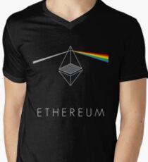 ethereum ETH prisma lichtbrechung floyd regenbogen licht nerd bitcoin blockchain cryptochain währung internet kursgewinn dezentral T-Shirt