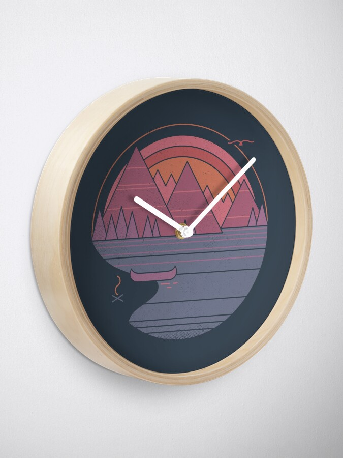 Alternate view of The Mountains Are Calling Clock