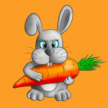 Rabbit with a carrot by Deanora