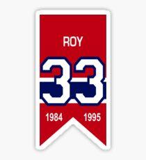 Patrick Roy - retired jersey #33 Sticker